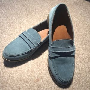 Nice Light Blue Suede Loafers